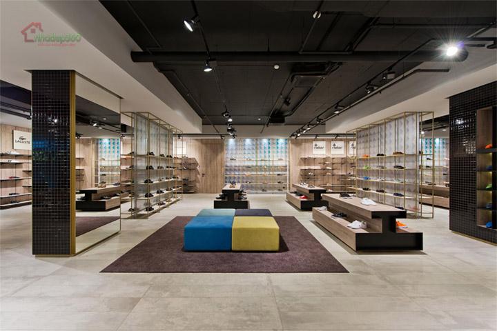 Thiết kế nội thất shop giầy dép đẹp - hiện đại tại Q1