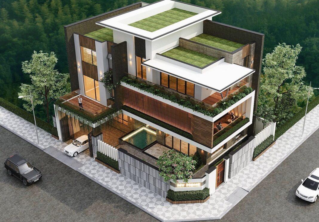 Thiết kế kiến trúc - biệt thự hiện đại